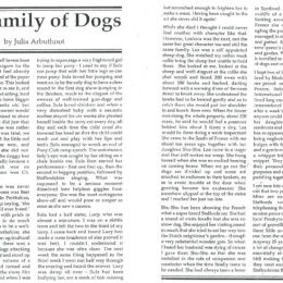 My Family Of Dogs By Julia Arbuthnot